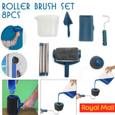 8PCS Paint Runner Pro Roller Brush Set Wall Painting Edger Handle DIY Tool Kit