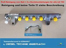 Reinigung Rail Hochdruckleitungen Railrohr VW AUDI SEAT SKODA 2,0 TDI 03L130277