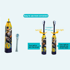 Ultrasonic Oral Cartoon Electric Toothbrush for Children Kids Baby Teeth Brush