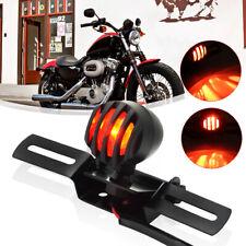 Motorcycle Brake Stop Tail Light License Plate Lamp for Bobber Chopper Cafe Race