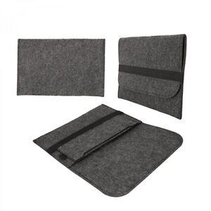 eFabrik Schutz Tasche für CSL Panther Tab 10 Filz Hülle Sleeve dunkelgrau