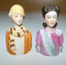 Vintage AVON Fashion Thimbles of Victorian women
