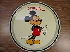 Vintage Disneyland Mickey Mouse Painted Metal Serving Tray