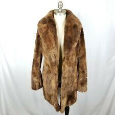 Abercrombie Fitch Women's Brown Faux Fur Coat Jacket Size Large