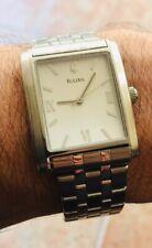 Bulova Stainless Steel Watch Rare Quartz Men's Silver C869722
