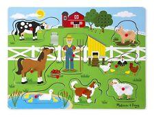 Melissa & Doug Old MacDonald's Farm Sound Puzzle (8 pièces)