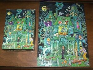 Vintage The House On Haunted Hill Jigsaw Puzzle 1973 Springbok 100 Pcs COMPLETE