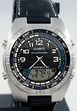 Casio AMW-700B-1AV Fishing Timer Watch Moon Phase Countdown Alarm 100M WR Cloth
