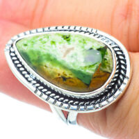 Large African Green Opal 925 Sterling Silver Ring Size 6 Ana Co Jewelry R30754F