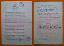 Tribunale di Perugia 1951: Procedimento penale per furto contro Balducci Corrado