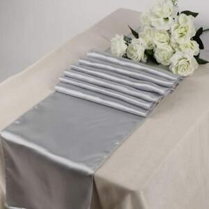 Mds Pack Of 10 Wedding 12 X 108 Inch Satin Table Runner For Wedding Banquet Deco