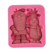 Christmas Moose Silicone Cake Mould Fondant Sugar Craft Chocolate Decorate Tools