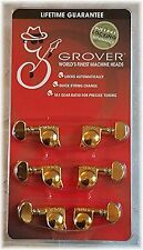Grover 406 G- 3 on a side Gold Self Lock Machines, Fender Locking Tuners