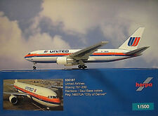 Herpa Wings 1:500 Boeing 767-200 United Airlines N607UA 530187  Modellairport500