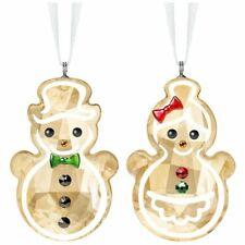 Swarovski Gingerbread Snowman Couple Ornament, 5464885