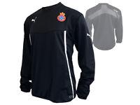 Puma Espanyol Barcelona Sweatshirt schwarz Fußball Fan Jersey La Liga Gr.S - XXL