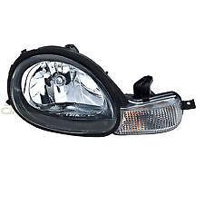 2001 2002 DODGE NEON HEADLIGHT HEADLAMP LIGHT LAMP W/BLACK BEZEL PASSENGER RIGHT