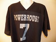 Powerhouse #7 Football Style Jersey Shirt Xl Black Vintage 1980's Made Usa