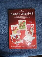 Vtg Hallmark Fun Fold Valentines Puppy Turtle Cat Duck Lot 20 Kids Prints Cute