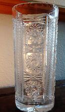 Ancien vase cristal soufflé taillé gravé décor aux étoiles Baccarat parfait état