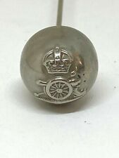 Antique Sweetheart Hat Pin Royal Artillery Button. Great Collectible