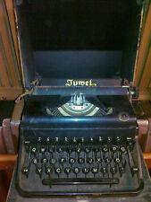 Juwel Model 3 Antike Kofferschreibmaschine 1939-1943 Selten ca.77J