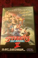 Streets Of rage 2 Megadrive Signed By Yuzo Koshiro very rare video game