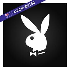 Playboy Bunny Sticker WHITE Decal for Car Window Family VT VX VY VZ GQ GU NP300