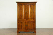 Curly or Tiger Maple Vintage Shaker Cupboard, John K Spicer Lebanon Oh #33709