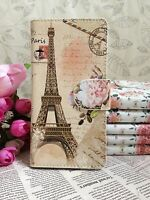 New Flower Paris Eiffel Tower Leather Cover Case For Various Mobile phones