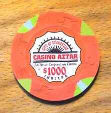 $1000. Paulson Casino Aztar Casino Chip-Evansville, Indiana- 1995-Oversized 43MM
