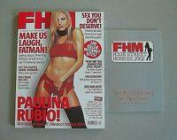 FHM MAGAZINE (OCT 2002) PAULINO RUBIO HIGH STREET HONEYS 2002 BOOKLET BRAND NEW