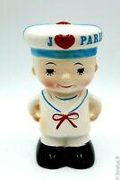 Vintage Ceramic Coin Bank French Sailor 4.75 in
