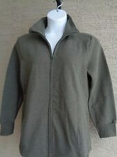 New Just My Size Cotton Blend Fleece Lined Zip Front Mock Neck Jacket 4X Olive