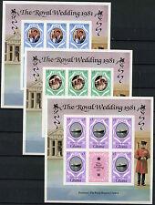 Ghana 1981 SG#952-4 Royal Wedding MNH Imperf Sheetlets Set #R122