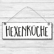 Dekoschild Holz Wand Tür Schild Shabby Chic HEXENKÜCHE Geschenk Vintage Landhaus
