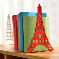 Eiffel Tower Bookshelf Metal Bookend Desk Holder Book Stand Study Gift Organizer