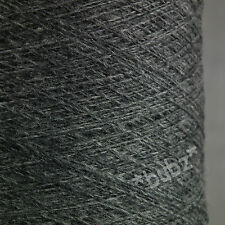 GORGEOUS SOFT CASHMERE MERINO YARN 250g CONE 5 BALL DARK GREY PURE NATURAL WOOL