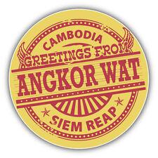 Angkor Wat Cambodia Greetings Label Car Bumper Sticker Decal 5'' x 5''