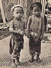 1940 Vintage BORNEO CHILDREN Rice Festival Jewelry Costume Fashion Art K.F. WONG