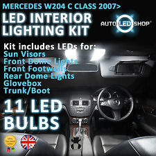 Mercedes Benz Clase C W204 Smd Led Interior Kit Completo Set De Bombillos Xenon Blanco