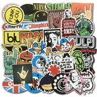 Lotto di 100 pezzi di adesivi per auto vintage retrò punk rock pesante