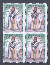 Jamaica 1964, Miss World 1963, mint block of four: 2 x MNH, 2 x MLH