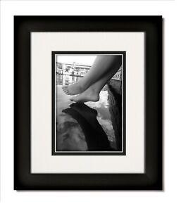 11x14 Matte Black Frame with Glass & White/Black Mat for 8x10