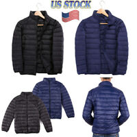US Men's Winter DOWN FILLED Puffer Jacket PACKABLE Lightweight Warm Coat M-4XL