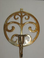 Brass Crafters Wall Sconce Single Candle Tree of Life Design Portugal   AS IS