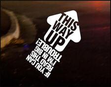 THIS WAY UP JDM Decal vinyl sticker, VW Japan Euro Drift Audi Funny Track Race
