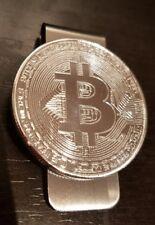 BITCOIN Money Clip silver Bit Coin Wallet 1oz Plata 999 new cripto currency $