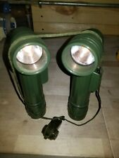 2 Used MILITARY FLASHLIGHT TL-122  With Extra Lens filters and Extra Bulbs WORKS