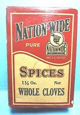 "Rare Vintage ""NATION WIDE"" Brand Unopened Box of Cloves Spice FREE SHIPPING"